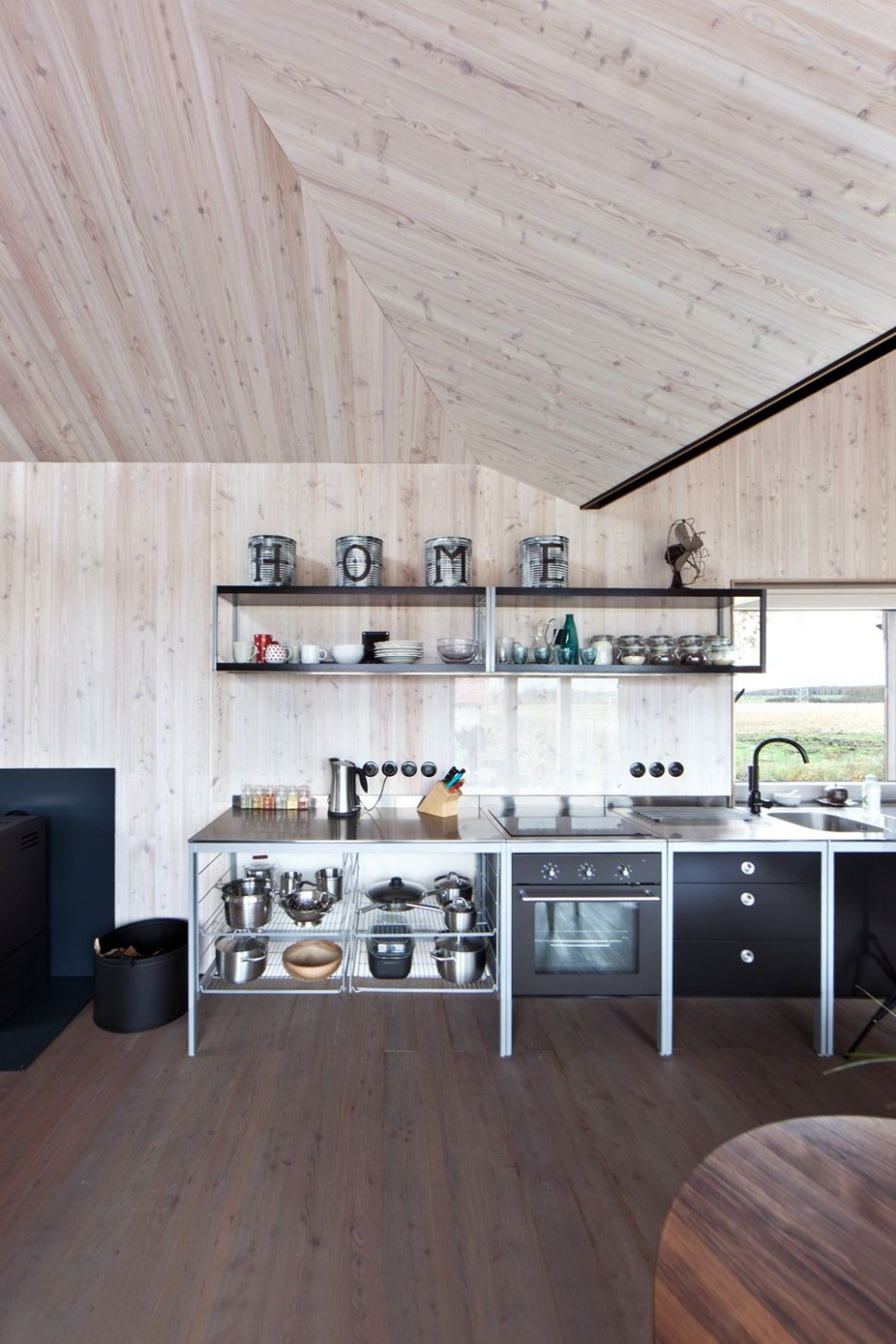 Kuchyňská linka je z Ikea, série Udden. Jedná se o modulární kuchyň ...
