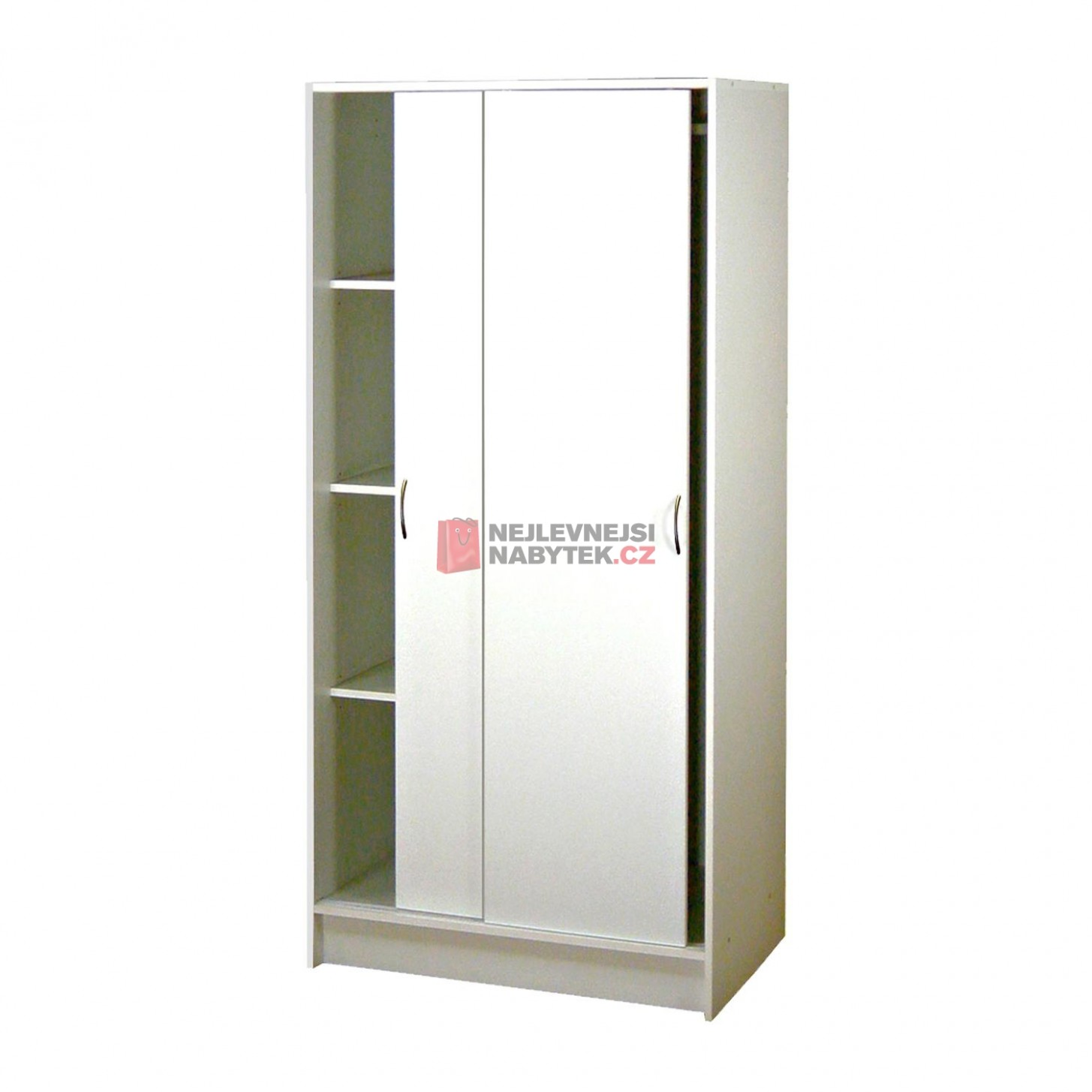Skříň s posuvnými dveřmi 54, bílá   NEJLEVNEJSINABYTEK.CZ