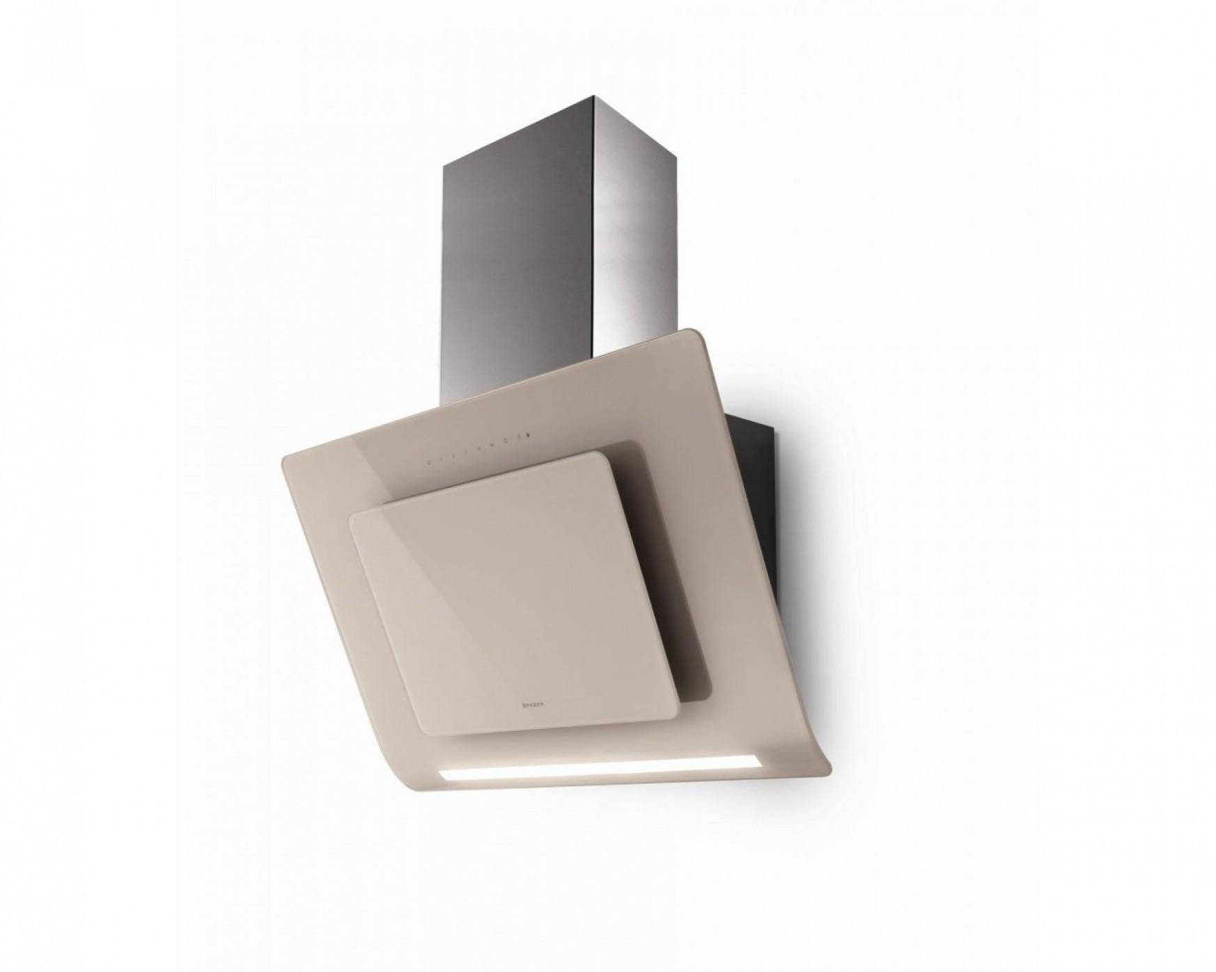Moderní nástěnná digestoř Infinity nerez s mandlovým sklem, 31 cm ...
