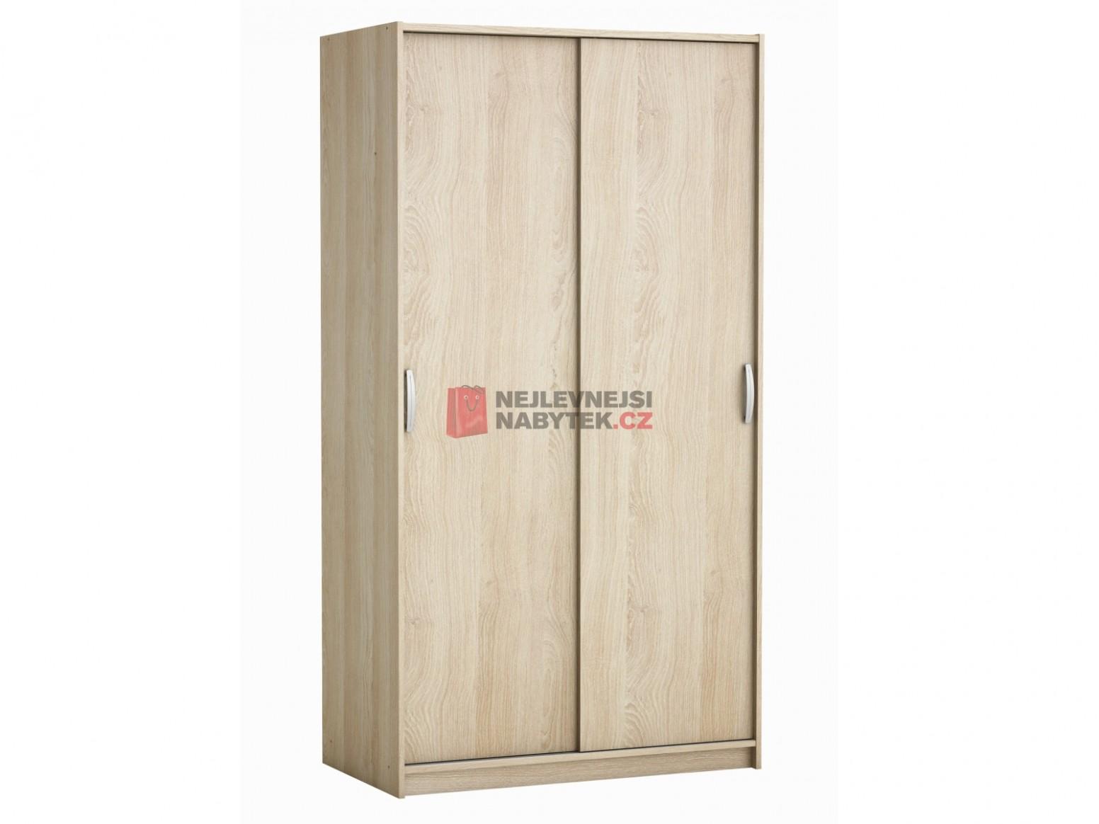 ROLINK skříň s posuvnými dveřmi, dub sonoma   NEJLEVNEJSINABYTEK.CZ