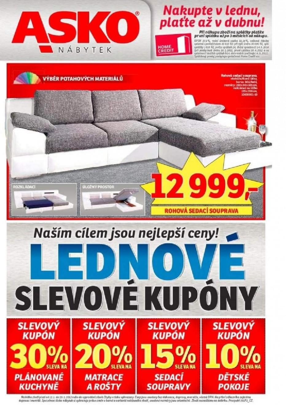 Asko nábytek - aktuální leták Asko nábytku - Slevové kupóny na ...