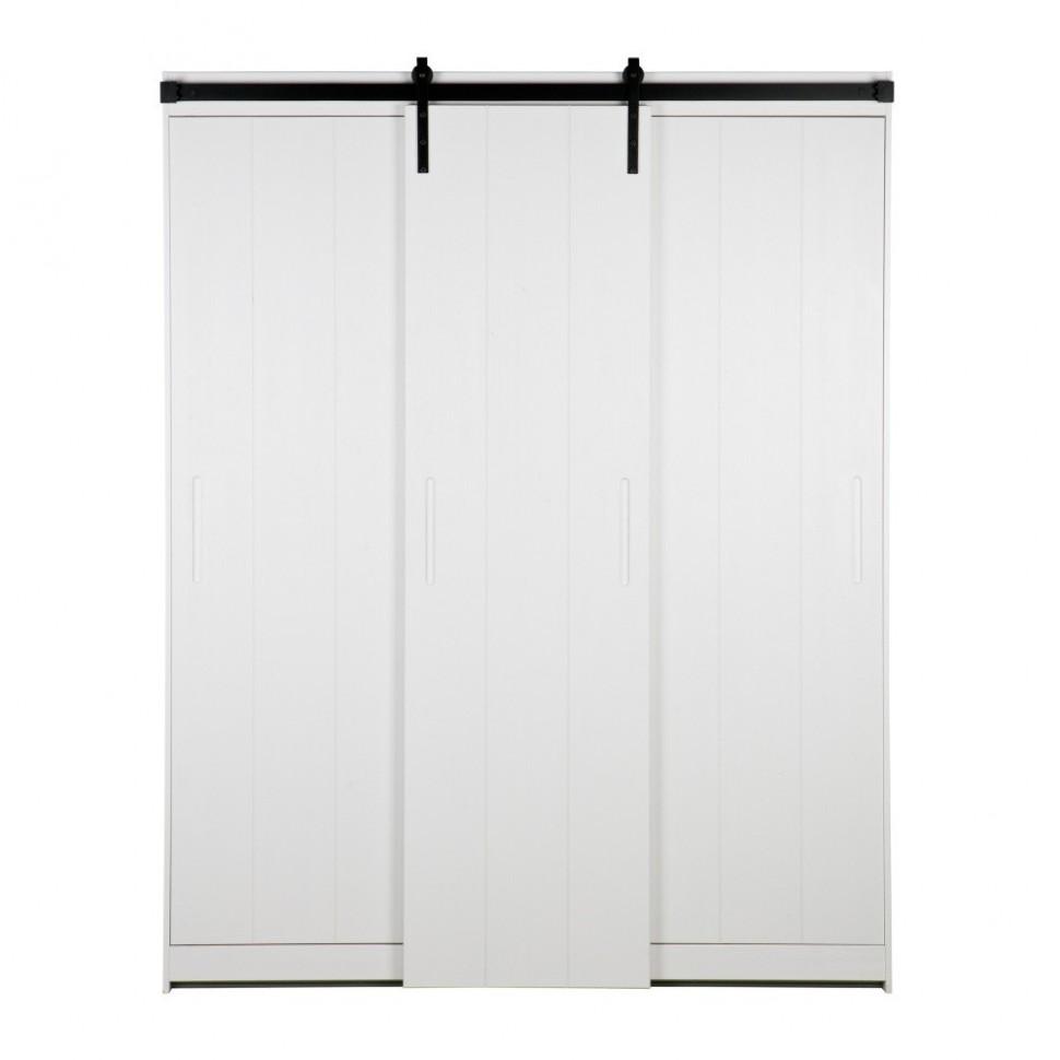 Biela konštrukcia skrine s posuvnými dvermi WOOOD Luuk | Bonami