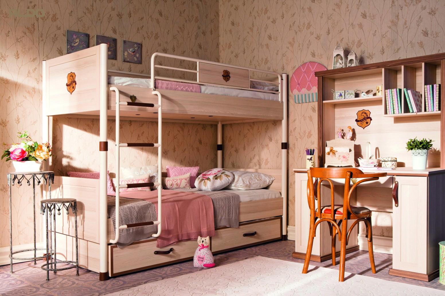 Dětská patrová postel s přistýlkou Royal | Nábytek Aldo
