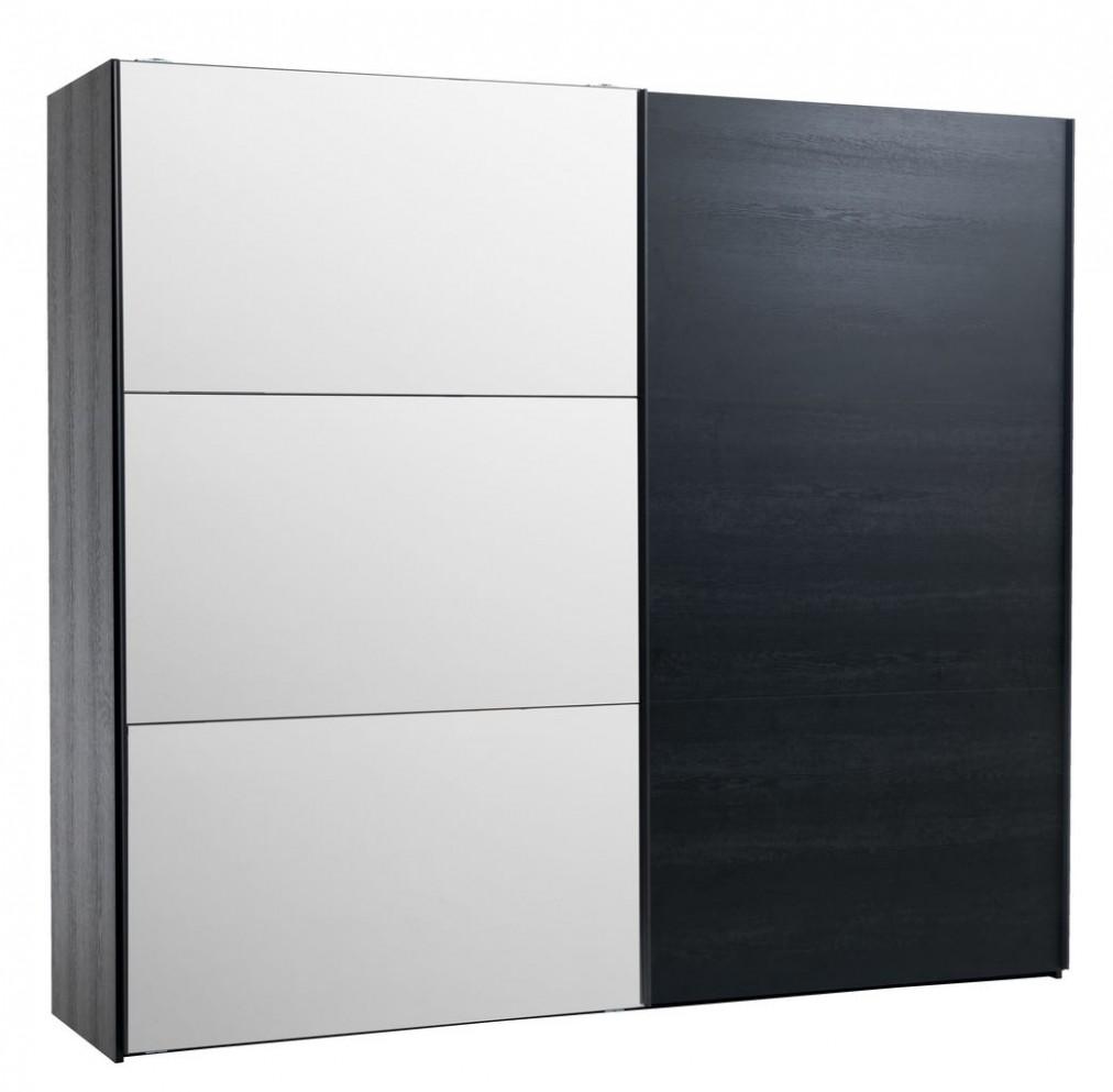 Skříň ONSTED 33×33 se zrcadlem černá | JYSK