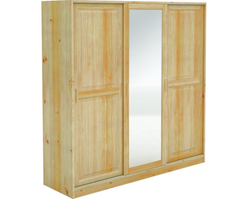 Šatní skříň s posuvnými dveřmi BR54, masiv borovice - Nábytek INTENA