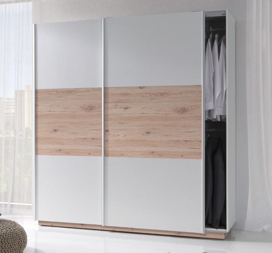 Skříň s posuvnými dveřmi - Sonoma/šedá :
