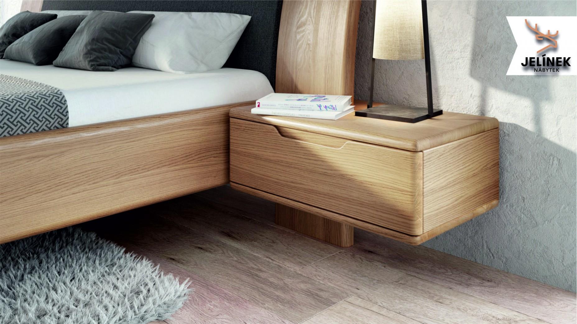 Ložnice FLABO postel, noční stolek, komoda, skříň