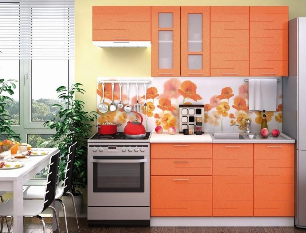 Kuchyňská linka TECHNO 53/53 cm oranžová metalic | FH nábytek