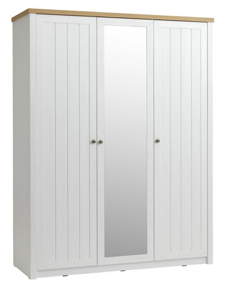 Skříň MARKSKEL 41x41 bílá/dub | JYSK