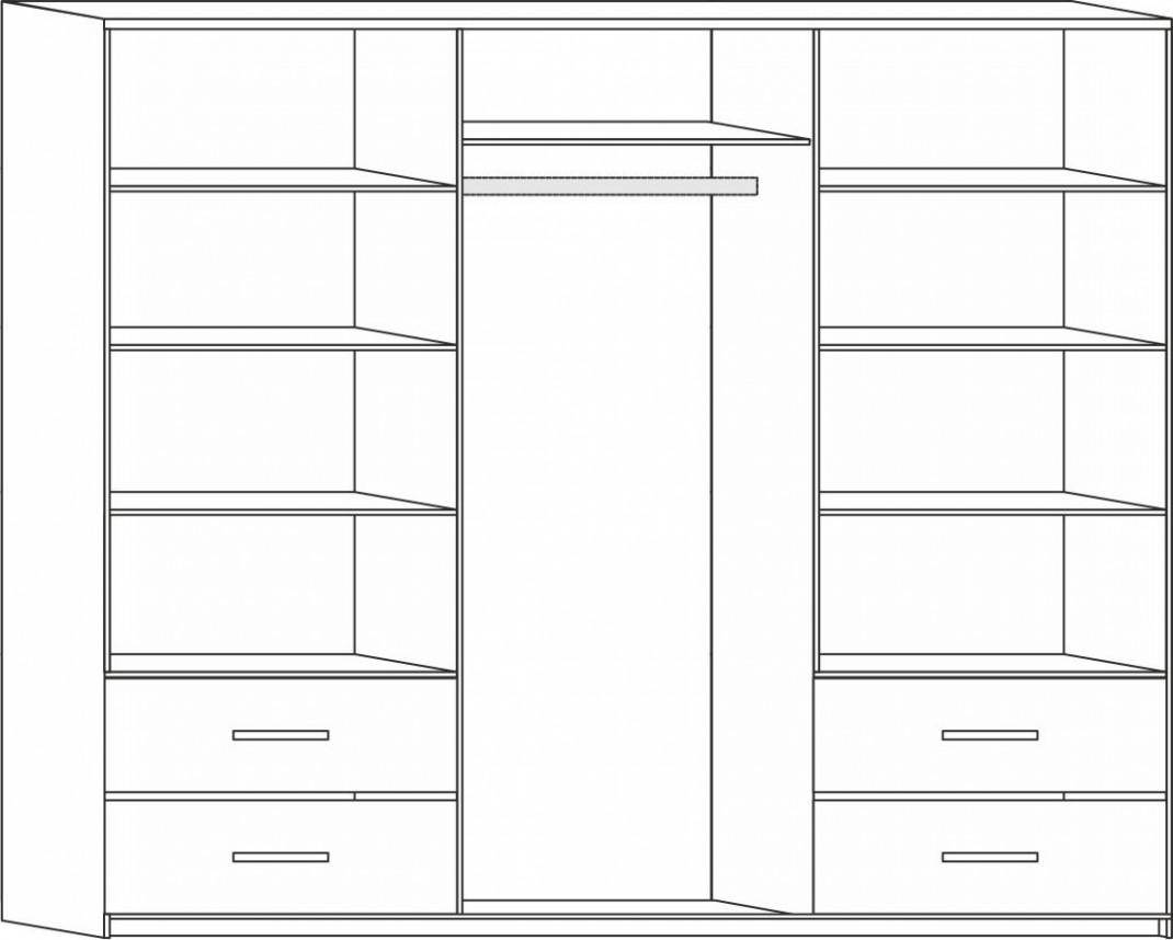 Šatní skříň s posuvnými dveřmi Nela II - dub Sonoma - 54.54 Kč ...