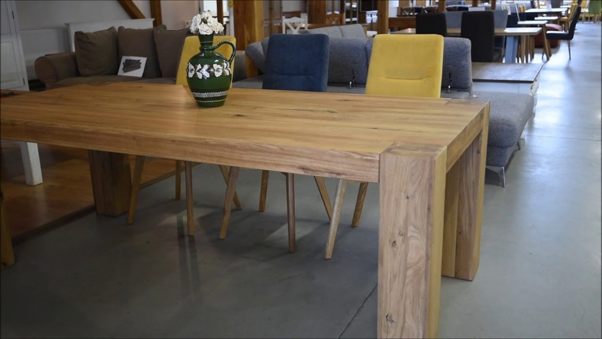 Dubový jedálenský stôl GEORGE 49 x 49 cm - Nábytek Mirek - YouTube