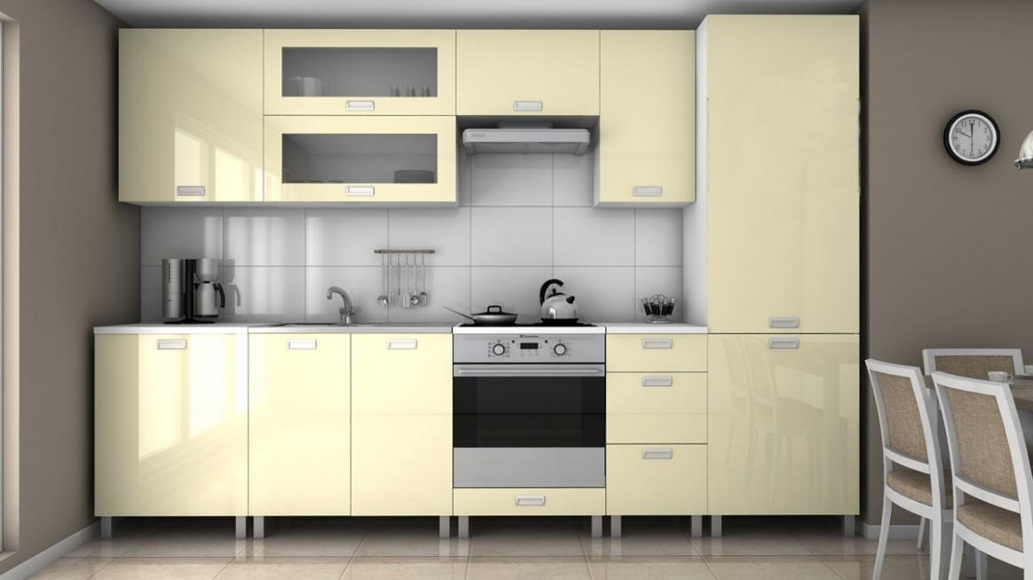 Kuchyňská linka Roksana 66 vanilka lesk/MDR | ATAN nábytek