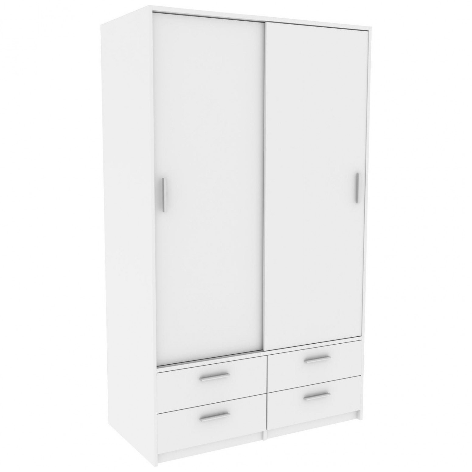 Bílá šatní skříň s posuvnými dveřmi Detroit | InHaus.cz