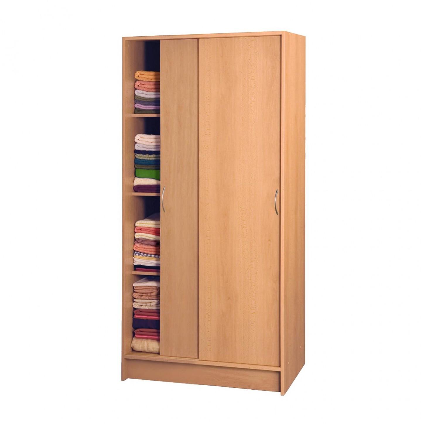 Skříň s posuvnými dveřmi 54 buk - Skříně - IDEA nábytek