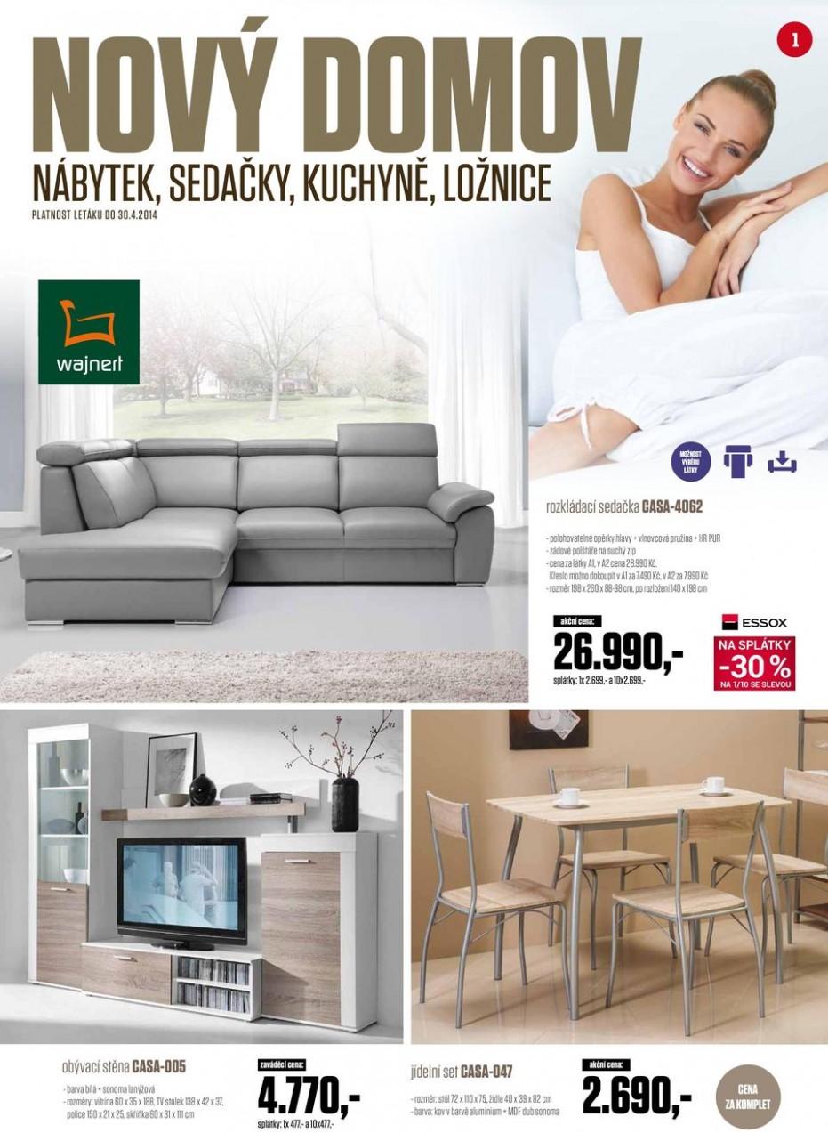 NOVÝ DOMOV , , ,- nábytek, sedačky, kuchyně, ložnice. -60 % na 60/600 ...