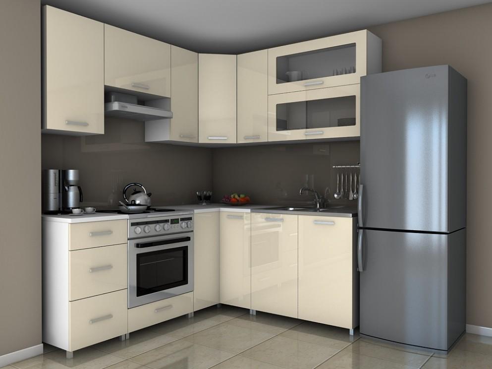 Rohová kuchyňská linka Grepolis - jasmín lesk/RLG | ATAN nábytek