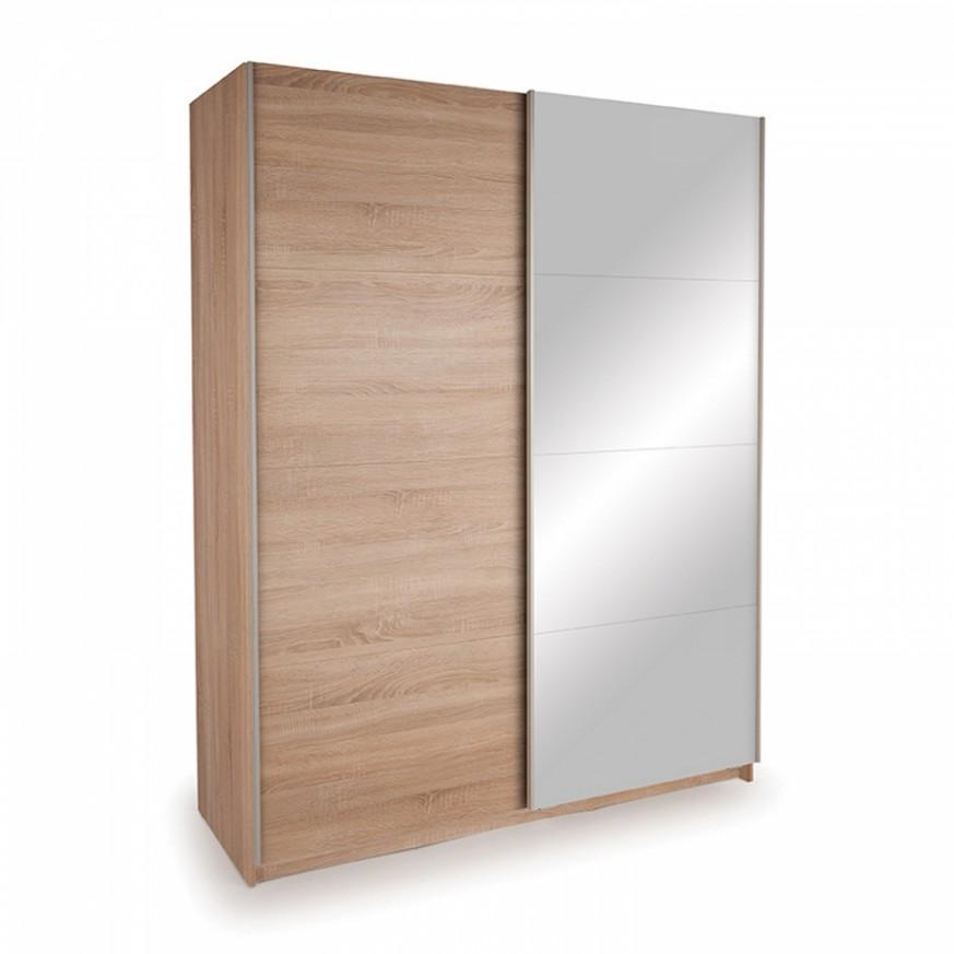 Šatní skříň s posuvnými dveřmi DECOR 54 dub/zrcadlo - VYBER SI TO