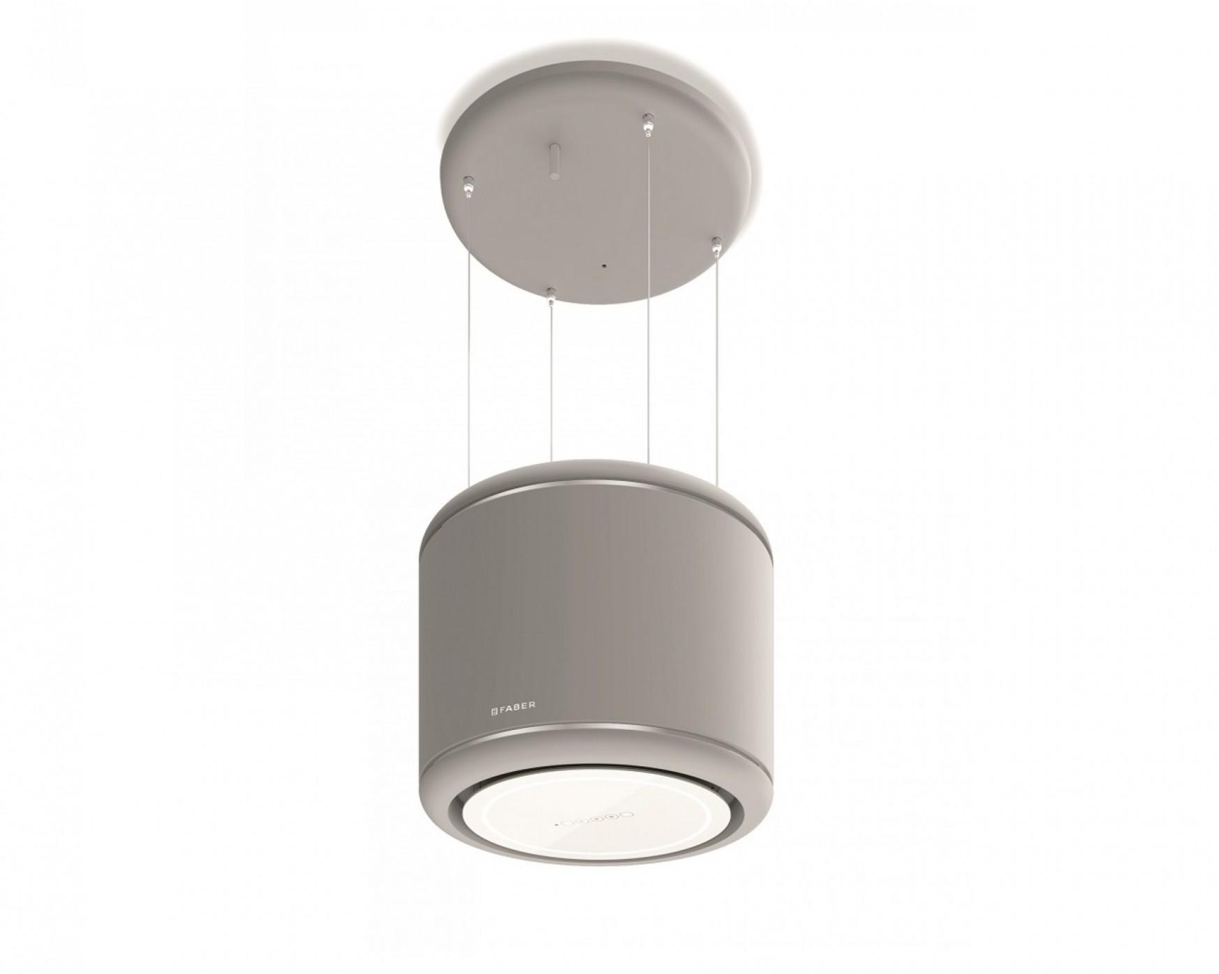Moderní lustrová digestoř Odette v šedé barvě, 47 cm | VENTILATORY.cz