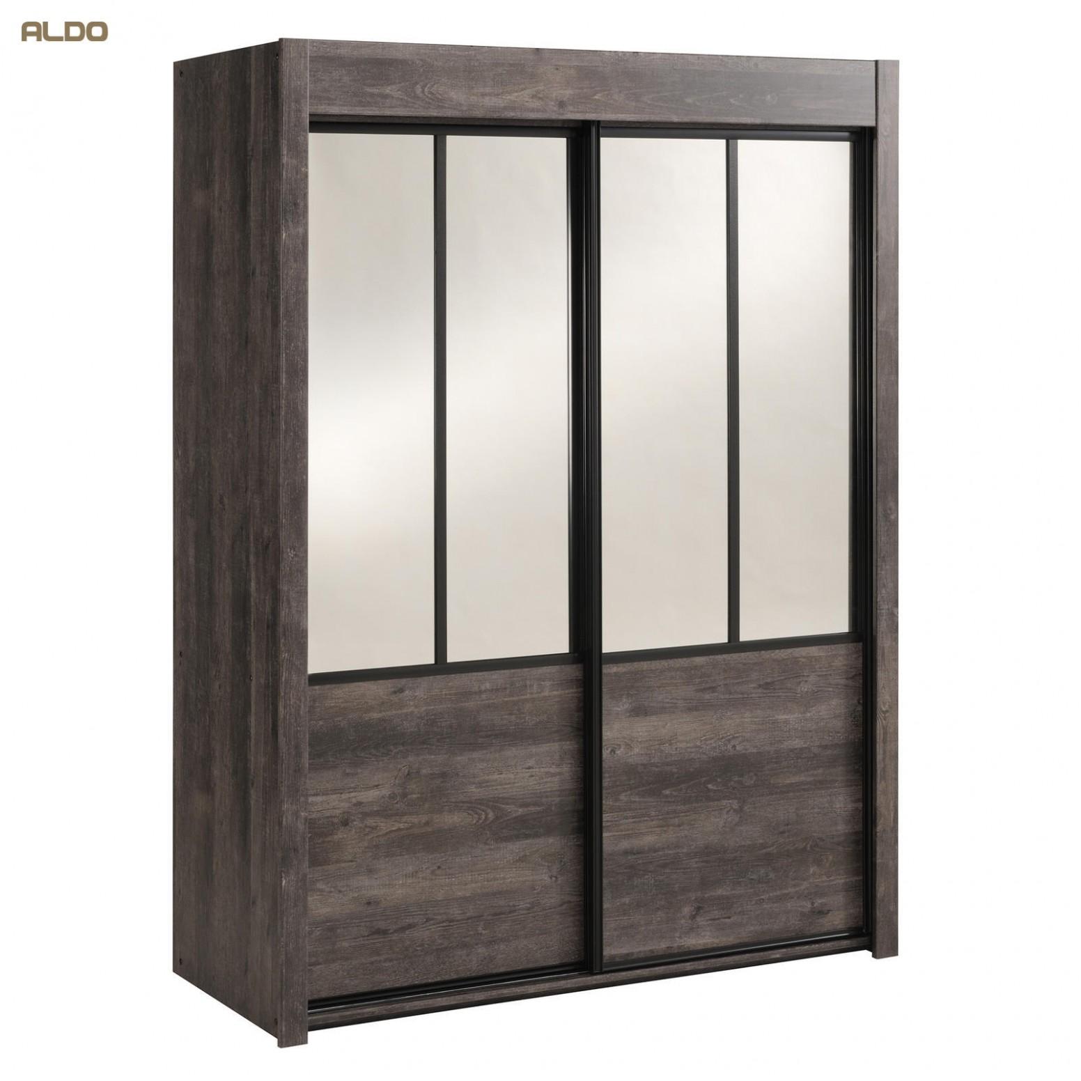 Šatní skříň s posuvnými dveřmi a zrcadly Belleville | Nábytek Aldo