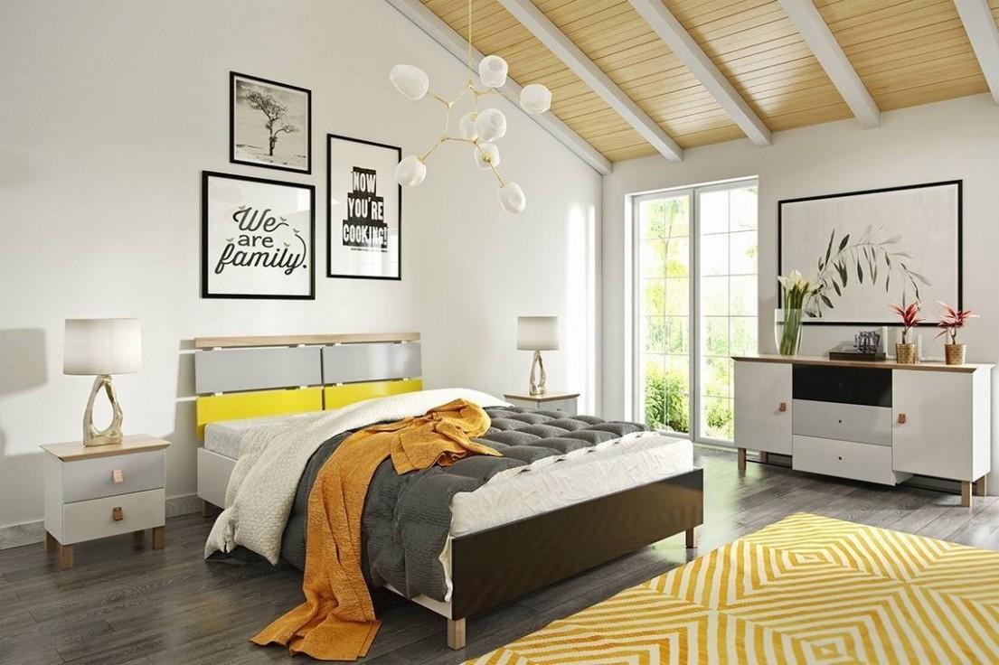 Dřevěná postel do ložnice Skandica VAXHOLM - CZ Obchod s nábytkem ...