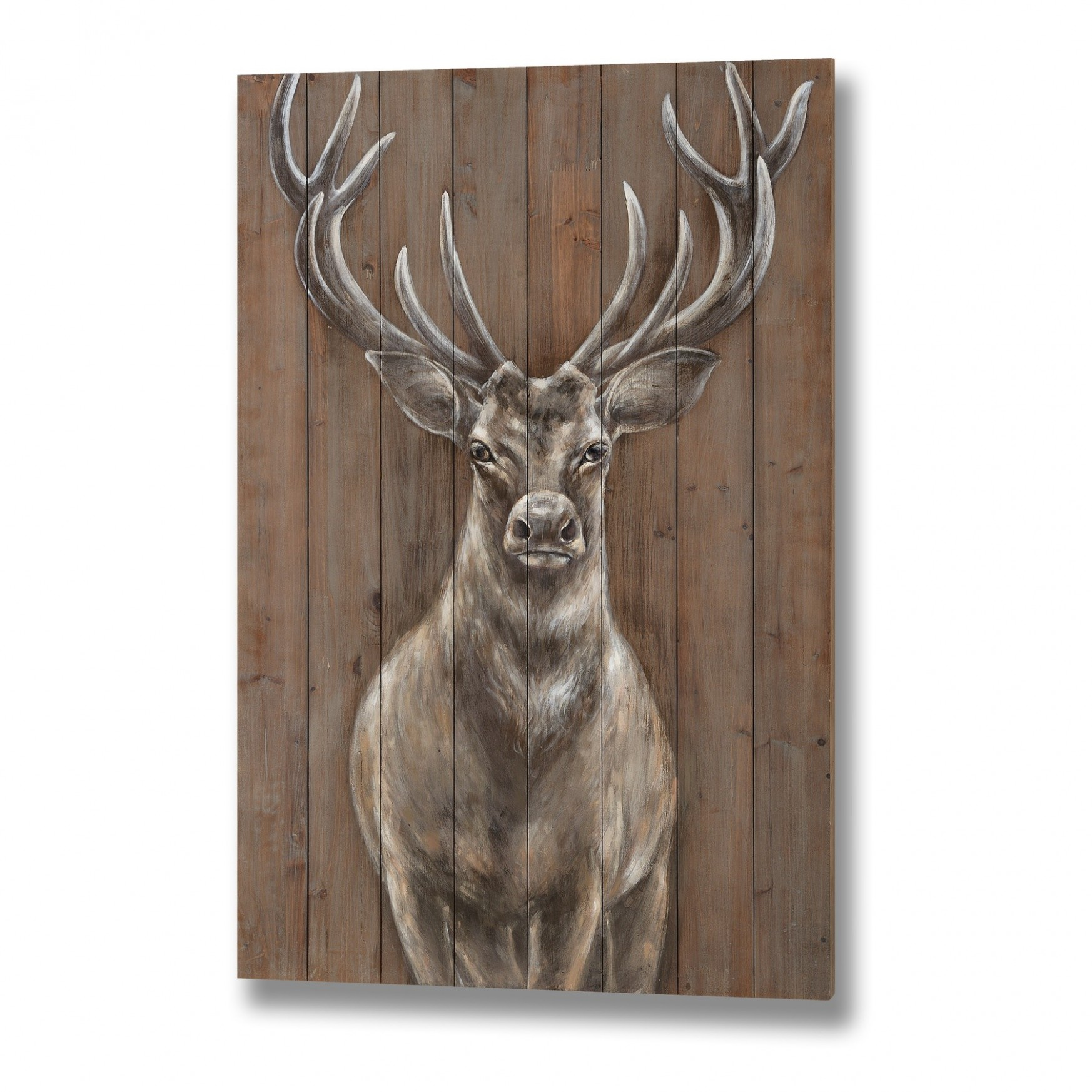 Dřevěný obraz Jelen 51x51cm - Nábytek Malvarosa | Stylový nábytek a ...