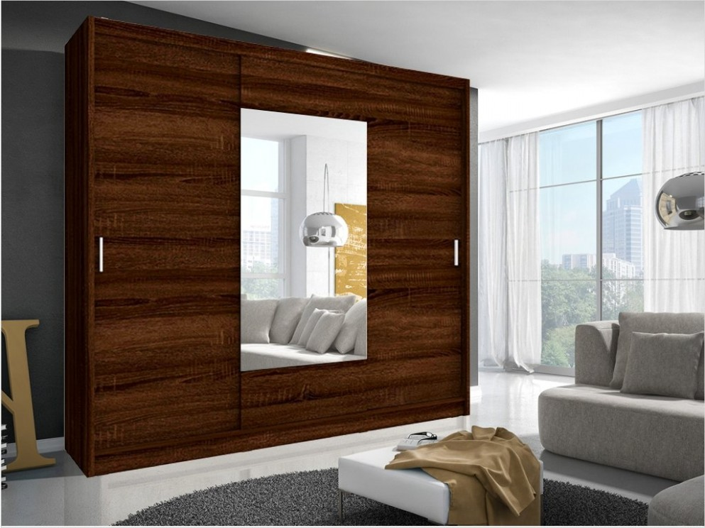 Šatní skříň - WIKI 52, dub sonoma čokoláda - nábytek MAXIVA