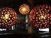 Dřevěná lampa Ručně vyráběná ze dřeva