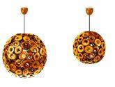 Dřevěná lampa ručně vyráběná společností Studio Sebastiaan Dillmann