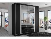 80 Svátecní šaty Obraz z Moderní Šatní Skríne - Moderní šatní skříň s černými posuvnými dveřmi se zrcadlem šířka 12 ...