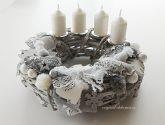 Akcie 95 Nejnovejší z Vánocní Venec Vánoční, adventní věnec, bílé proutí - šedý ...