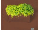 Hnedý závesný kvetináč The Green Pockets Amma, 12 × 12 cm - Závesný Kvetinác