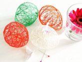 Koule z bavlnky, aneb nejen velikonoční dekorace   Kreativní ..