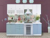 Kuchyně PROVENCE 15/15 cm, bílá/světle modrá - Kuchyne Provence