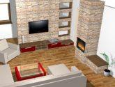 Návrhy obývacích pokojů - Luděk Jekl - vizualizace a ..