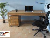 Počítačový/Pc stůl - DUB MASIV 15cm : - Pocítacový Stul