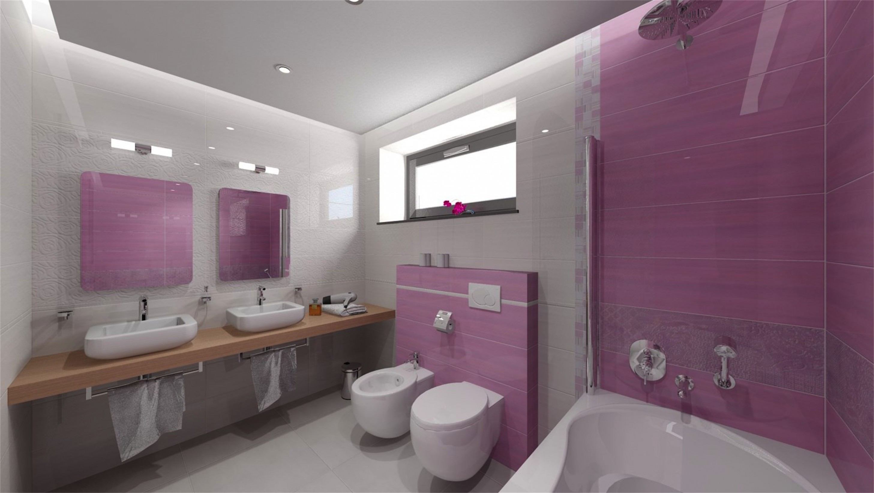Skvěle vyladěná koupelna a opět deska pod umyvadlo (více jak ..