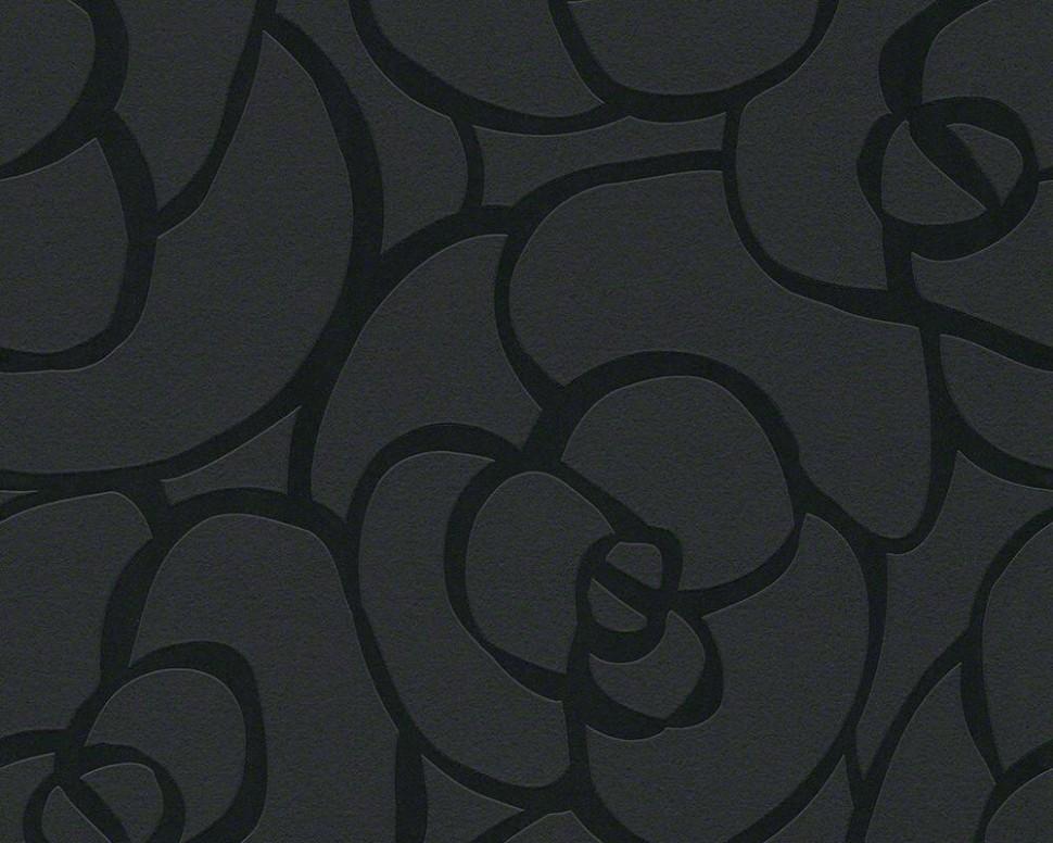 E-color - Tapety na zeď - Tapety na zeď Raffi růže černá