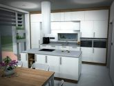 Petr Molek - opravdu světlý interiér kuchyně a obýváku - RD Praha (bílá  kuchyň, bílý obývák) - Bila Kuchyn