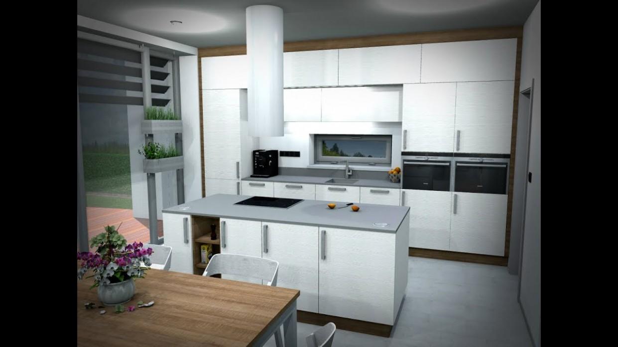 Petr Molek - opravdu světlý interiér kuchyně a obýváku - RD Praha (bílá  kuchyň, bílý obývák)