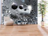 Stříbrná skládanka - Tapety na zeď