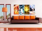 4 dílný obraz na stěnu - Elements - Obrazy na zeď
