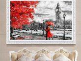 Bez rámečku Obrazy na plátně London Big Ben Lover Obrazy na zeď Home Wall Picture Home Decor - Obrazy na zeď