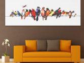 Colorful Vtáky Reprodukce na plátně Obrazy na zeď Umělecké dekorativní umění Zarámované obrazy - Obrazy na zeď