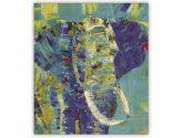 Dřevěný moderní obraz na zeď s motivem slona - Obrazy na zeď
