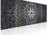 Moderní obrazy na zeď - Grafitová mandala - Obrazy na zeď
