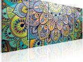 Moderní obrazy na zeď - Paví mandala | Obrazy na zeď