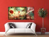 Obraz na zeď 2 dílný - Red - Obrazy na zeď