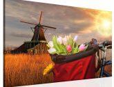 Obraz na zeď - tulipány v koši - Obrazy na zeď