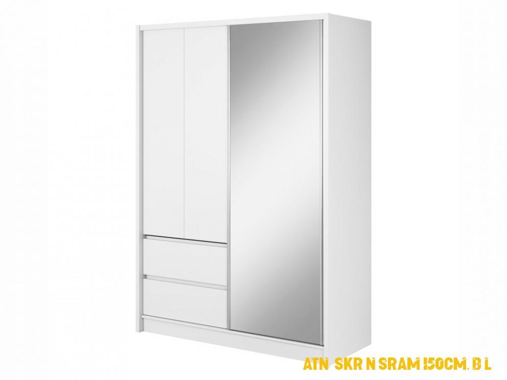 Šatní skříň - SARA 4, bílá