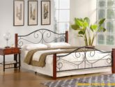 Cerna kovova postel 4x4 levně | Mobilmania zboží